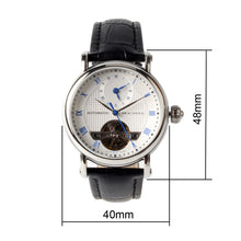 Load image into Gallery viewer, Seagull Dual Time Zone Men Wristwatch Roman Numerals 40mm Business Skeleton Self Wind Automatic Men's Mechanical Watch 819.11.6040