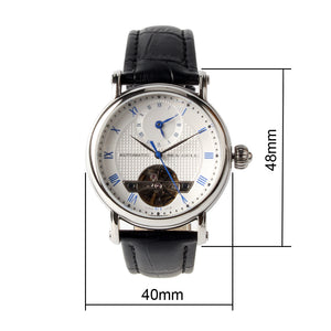 Seagull Dual Time Zone Men Wristwatch Roman Numerals 40mm Business Skeleton Self Wind Automatic Men's Mechanical Watch 819.11.6040