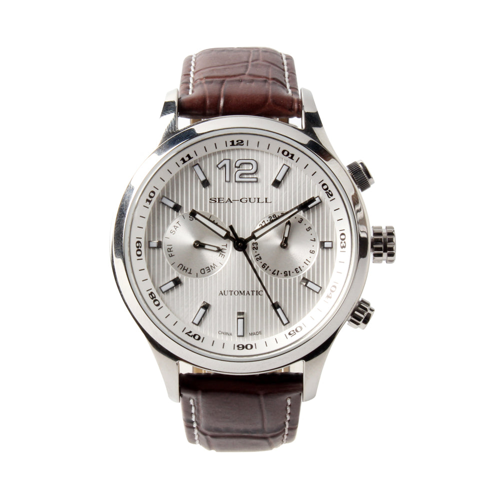 Seagull day week display self winding automatic mechanical watch 819.17.5115
