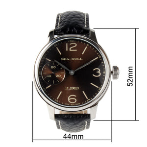 Seagull hand wind st36 movement 44mm mechanical watch 819. 77. 5000