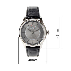 Seagull dress watch pointer date automatic self winding big date 819.42.1001 sapphire crystal