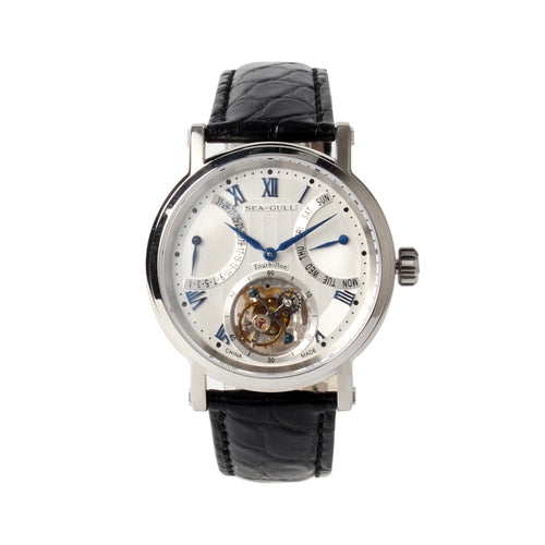 Tourbillon watch seagull auto date day display st8004