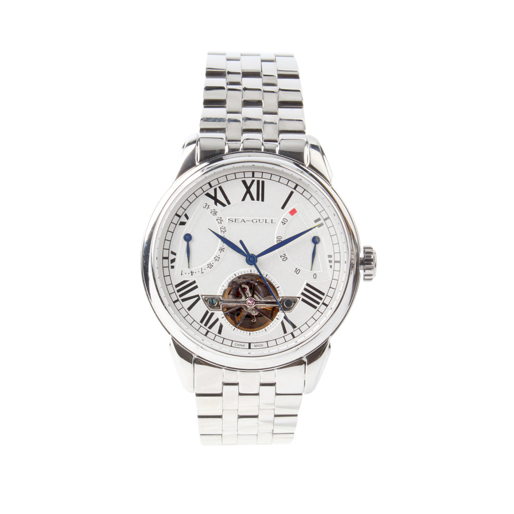 seagull auto date power reserve automatic watch 816.522