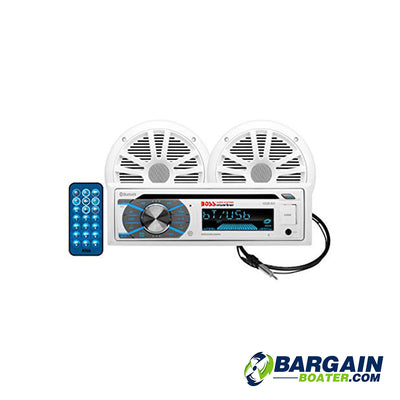 "BOSS Marine CD/USB/SD, MP3, WMA, FM/AM Player/Bluetooth w/6.5"" Speakers"