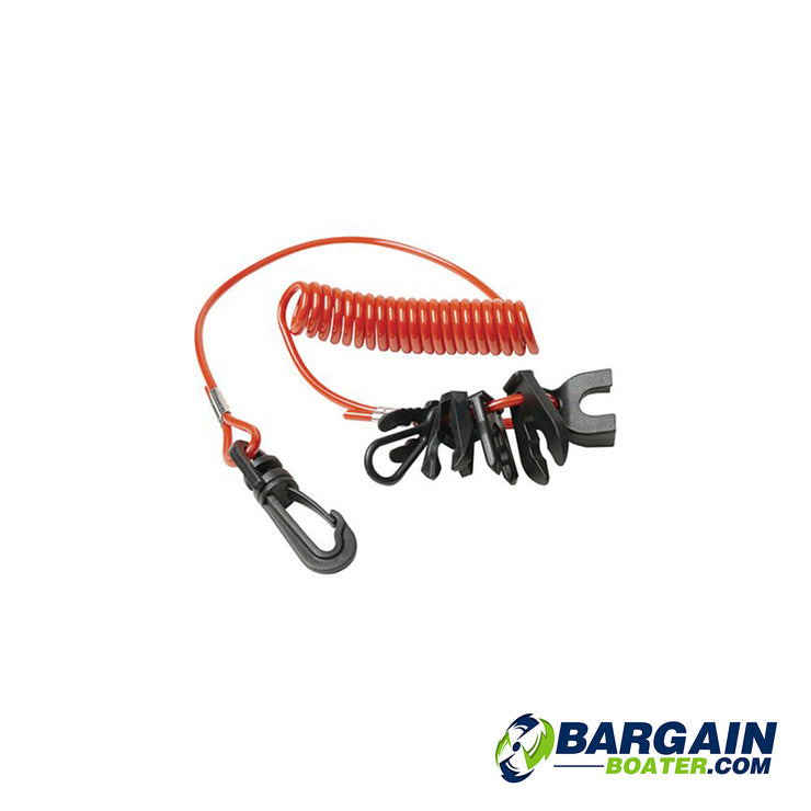 SeaChoice Replacement Coil Lanyard w/ 7 Keys