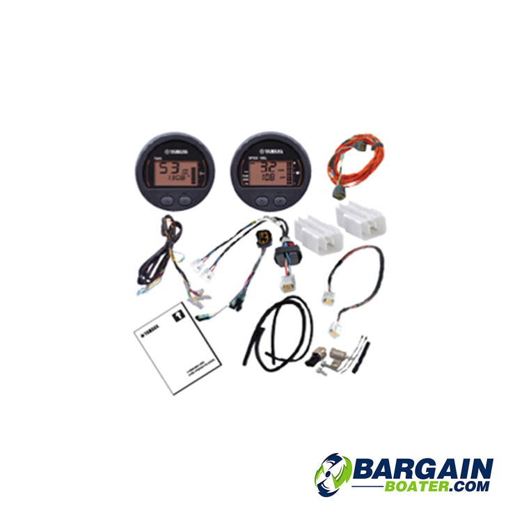 Yamaha Command Link Single Engine Gauge Kit: Round Two Gauge Kit (6Y8-0E83R-91-00)