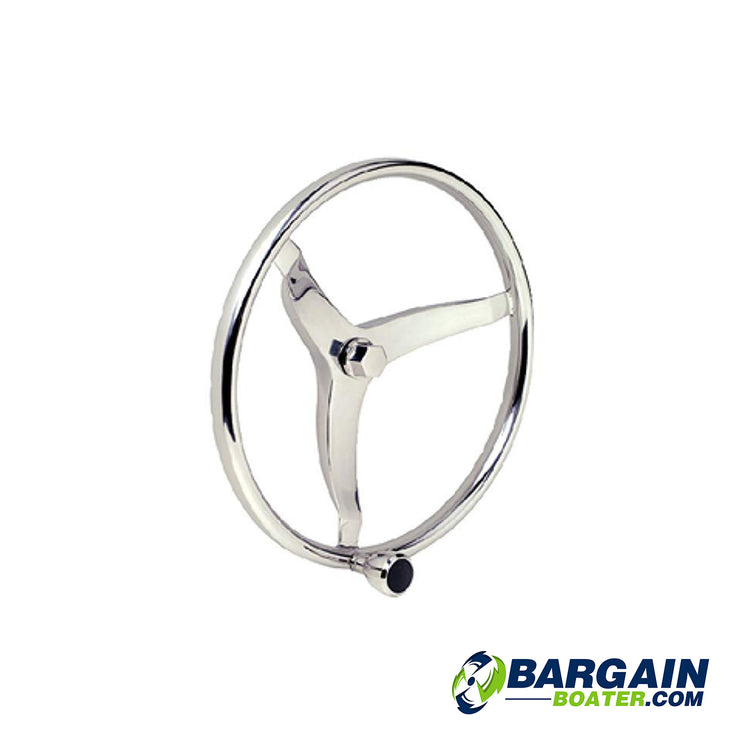 SeaChoice Sports Steering Wheel With Turning Knob