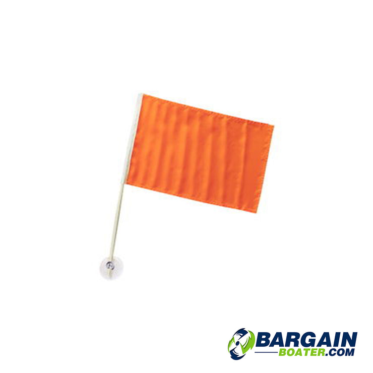SeaChoice Nylon Skier Down Flag With Suction Cup