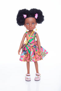 African Queen Mahle Doll - Pink/Gold