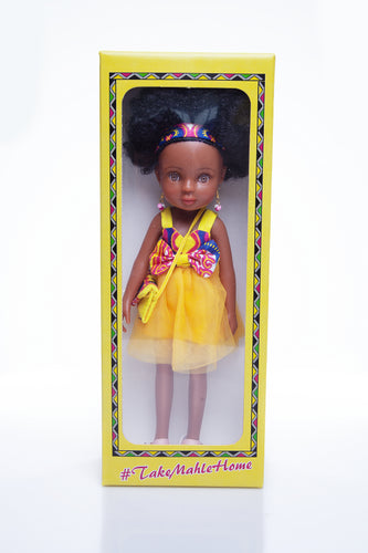African Queen Mahle Doll - Pink