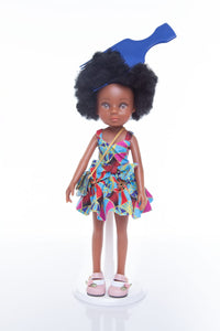 African Queen Mahle Doll - Blue/Gold