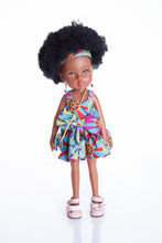 Load image into Gallery viewer, African Queen Mahle Doll - Blue/Gold