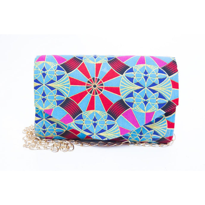 Kiddies Clutch Bag – Blue/Gold