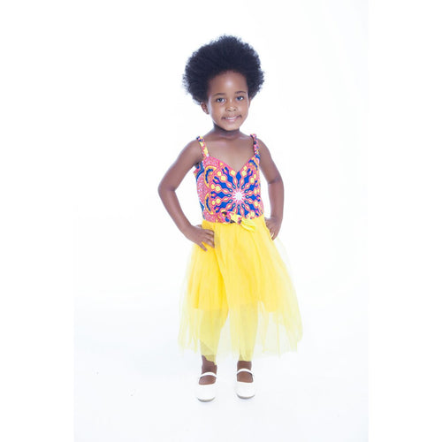 Mahle Kids Traditional African Dress - Pink/Yellow