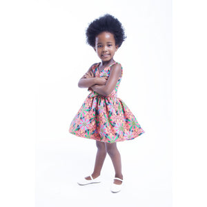Mahle Kids Traditional African Dress – Pink/Gold