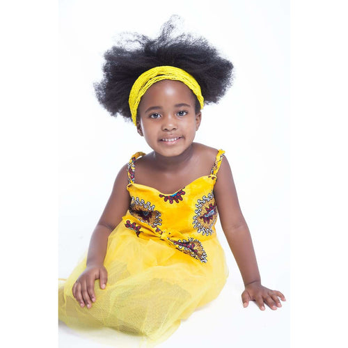 Mahle Kids Traditional African Dress - Yellow