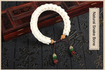New Snake Bone Horn Beads Charm Bracelet For Women And Men