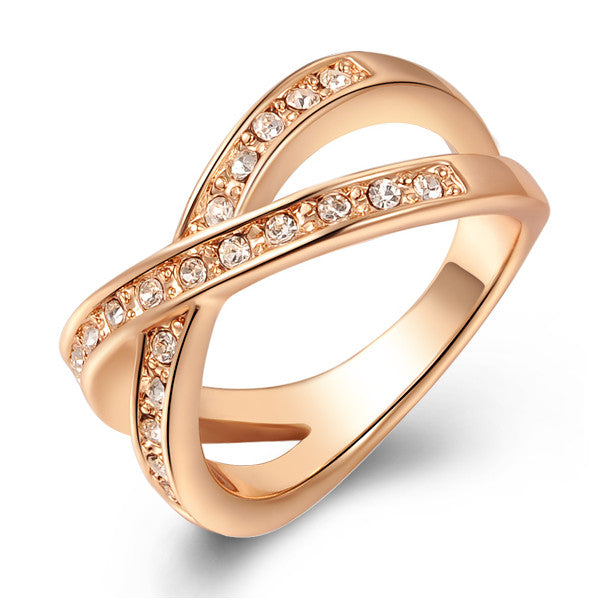 18K Gold Plated Infinity Promise Ring For Women