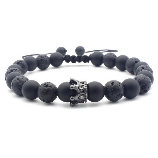 Lava Rock 7 Chakra Beads Bracelet For Men and Women