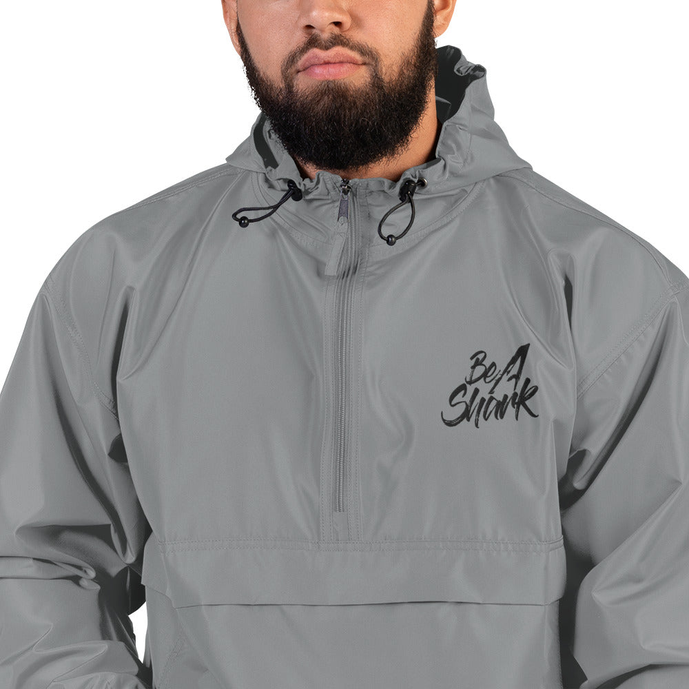 Be A Shark Embroidered Champion Packable Jacket
