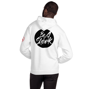 White Be a Shark Unisex Hoodie