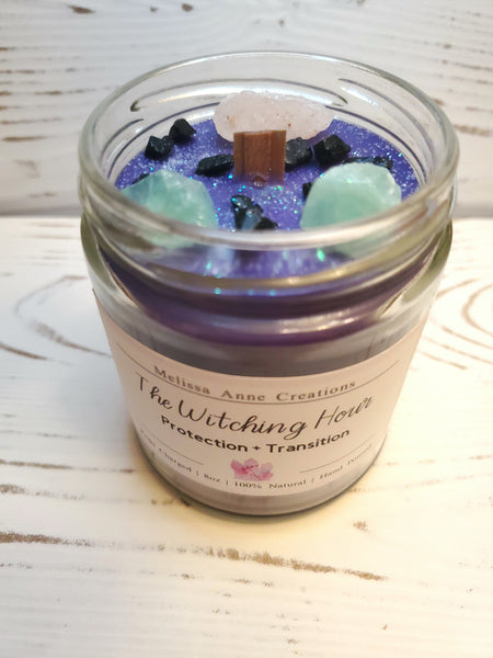 The Witching Hour Crystal Candle
