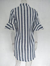 Load image into Gallery viewer, Half Striped Sleeve Blouse