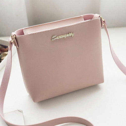 Solid  Crossbody Bag