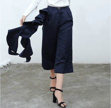 Load image into Gallery viewer, Twin Style Ruffle Wide Pants