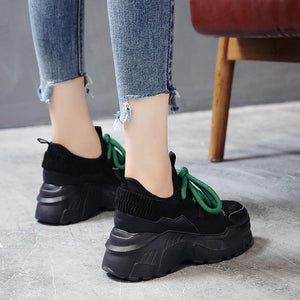 Women Comfortable Chunky Platform Sneakers