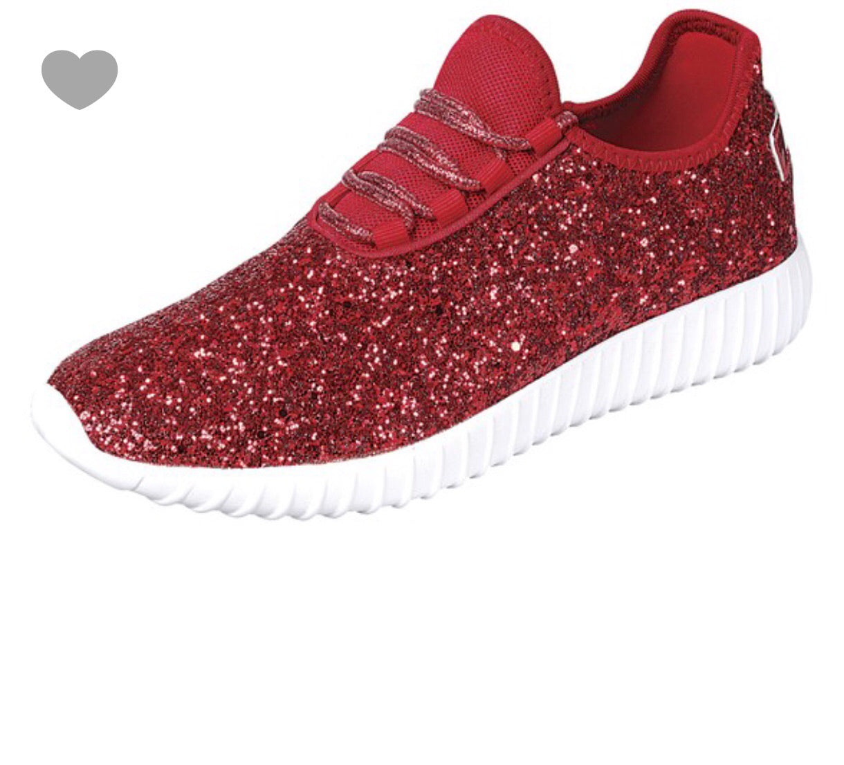 sneakers outlet store great fit Red sparkly shoes