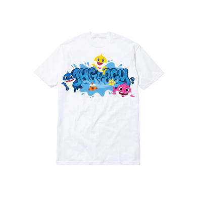 SHARK TODDLER TEE: WHITE