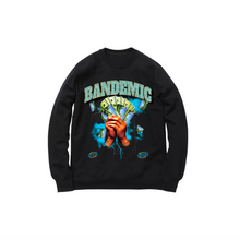 Load image into Gallery viewer, BANDEMIC WORLD TOUR CREWNECK SWEATSHIRT: BLACK