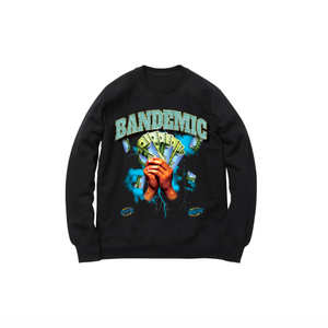 BANDEMIC WORLD TOUR CREWNECK SWEATSHIRT: BLACK