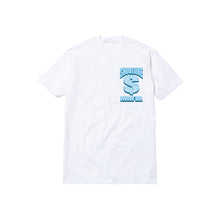 Load image into Gallery viewer, BUSSDOWN MAFIA TODDLER TEE: WHITE/BLUE