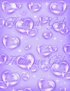 OG BABY LARGE AIRBRUSH BACK DROP: LAVANDER