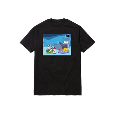FAIRLY WOCKPARENTZ TEE: BLACK