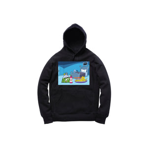 FAIRLY WOCKPARENTZ PULLOVER HOODY: BLACK