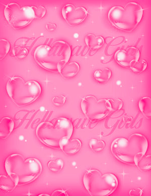 OG BABY LARGE AIRBRUSH BACK DROP: PINK