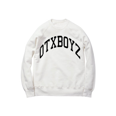 OTXBOYZ EMBROIDERED CREWNECK SWEATSHIRT: WHITE