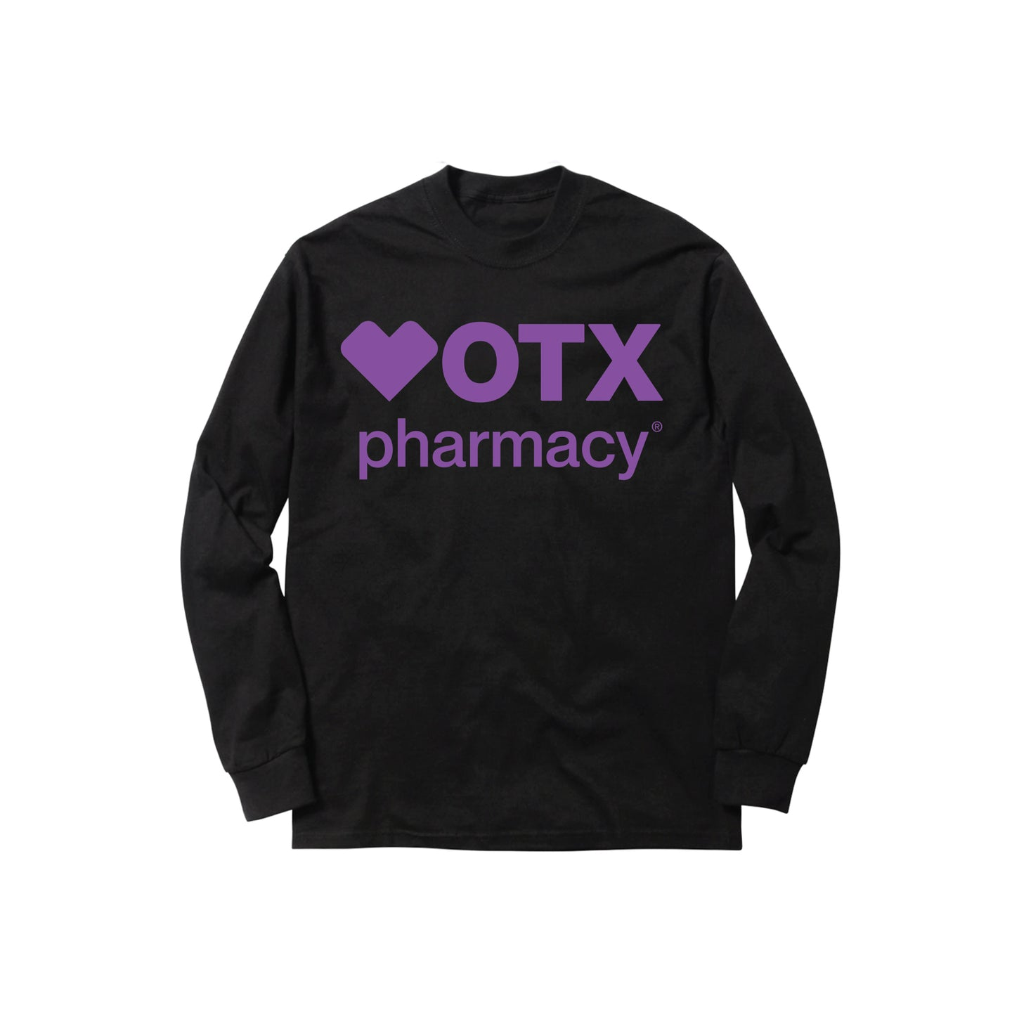 PHARMACY LONGSLEEVE TEE: BLACK