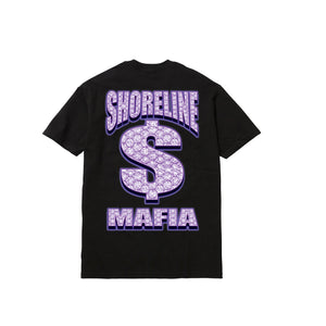 BUSSDOWN MAFIA TEE: BLACK/PURPLE