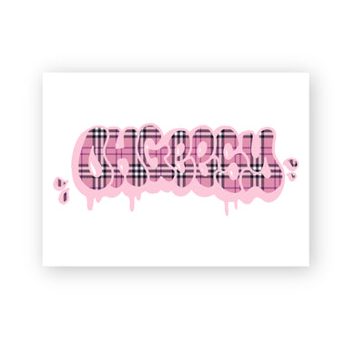 BURBERRY THROWIE POSTER: WHITE/PINK