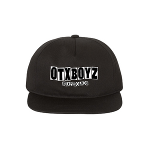 OTX SKATEBOARDS SNAPBACK: BLACK
