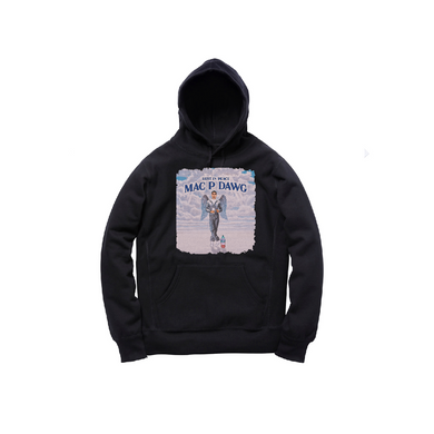 MAC P ANGEL PULLOVER HOODY: BLACK