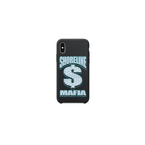 BUSSDOWN IPHONE CASE: BLACK/AQUA