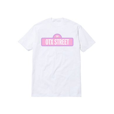 OTX STREET TODDLER TEE: WHITE/PINK