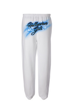 Load image into Gallery viewer, AIRBRUSH SWEATPANTS: WHITE