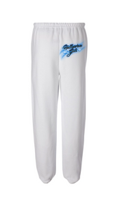AIRBRUSH SWEATPANTS: WHITE