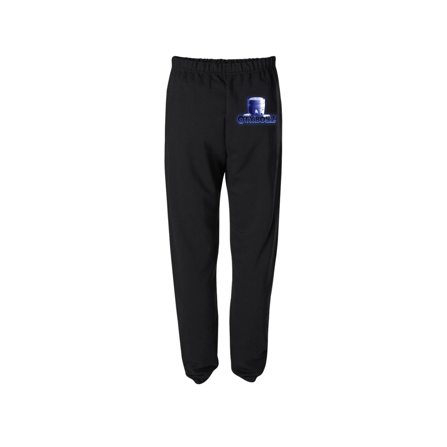 CASPER SWEATPANTS: BLACK/BLUE